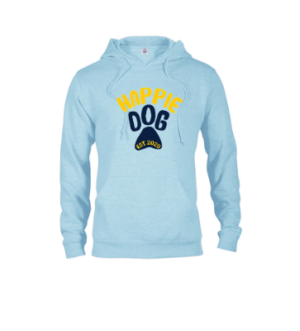 blue paw print sweatshirt