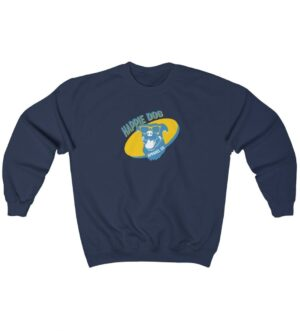 Happie Dog Light Blue Logo Unisex Heavy Blend Crewneck Sweatshirt