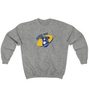 Happie Dog Dark Blue Logo Unisex Heavy Blend Crewneck Sweatshirt
