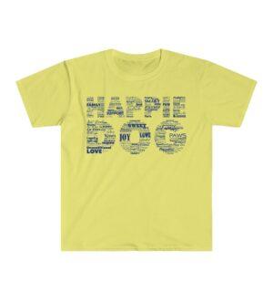 Happie Dog Descriptive Yellow Tee