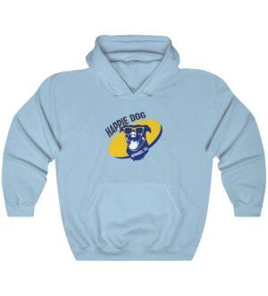 Happie Dog Dark Blue Logo Unisex Hooded Sweatshirt