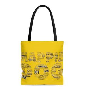 Happie Dog Descriptive Tote Bag